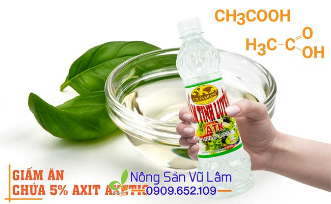 Giấm ăn chứa 5% axit axetic